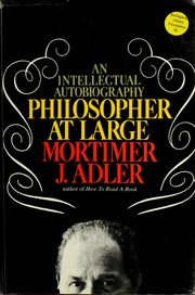 Cover of: Philosopher at large: an intellectual autobiography