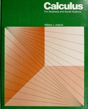Cover of: Calculus for business and social science