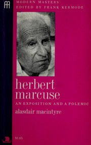 Cover of: Herbert Marcuse