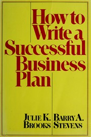 Cover of: How to write a successful business plan