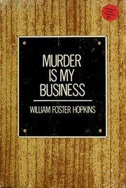 Cover of: Murder is my business