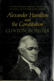 Cover of: Alexander Hamilton and the Constitution