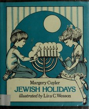 Cover of: Jewish holidays