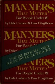 Cover of: Manners that matter: for people under 21