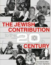 Cover of: The Jewish Contribution to the 20th Century | Alan Symons
