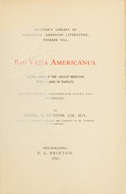Cover of: Rig Veda Americanus