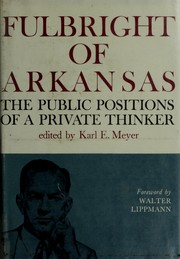 Cover of: Fulbright of Arkansas