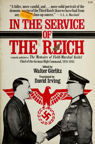 In the service of the Reich by Wilhelm Keitel