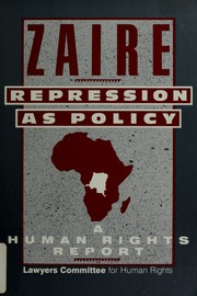 Cover of: Zaire: Repression As Policy