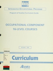 Occupational component, 16-level courses