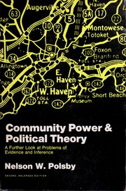 Community power and political theory by Nelson W. Polsby