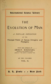 Cover of: The evolution of man