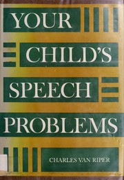 Cover of: Your child's speech problems