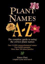 Cover of: Plant Names A-Z