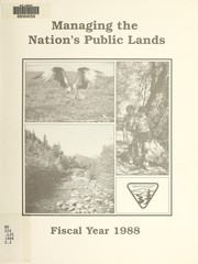 Cover of: Managing the Nation's public lands