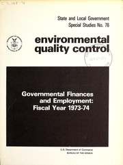 Cover of: Environmental quality control