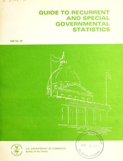 Cover of: Guide to recurrent and special governmental statistics