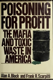 Cover of: Poisoning for profit | Block, Alan A.