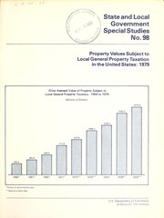 Cover of: Property values subject to local general property taxation in the United States, 1979 |