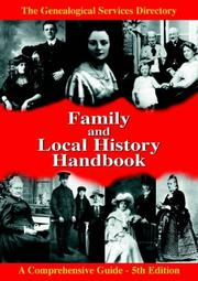Cover of: The Family and Local History Handbook