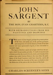 Cover of: John Sargent | Charteris, Evan Sir