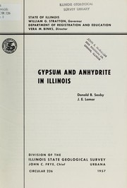 Cover of: Gypsum and anhydrite in Illinois