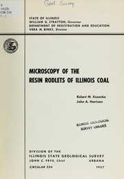 Cover of: Microscopy of the resin rodlets of Illinois coal