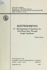 Cover of: Electrokinetics