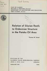 Cover of: Relation of Silurian reefs to Ordovician structure in the Patoka oil area