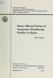 Cover of: Heavy mineral ratios of Sangamon weathering profiles in Illinois