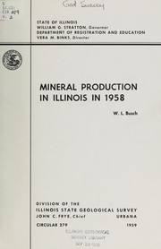 Cover of: Mineral production in Illinois in 1958 | Willis L. Busch