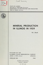 Cover of: Mineral production in Illinois in 1959 | Willis L. Busch