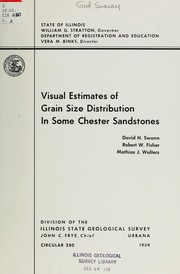 Cover of: Visual estimates of grain size distribution in some Chester sandstones