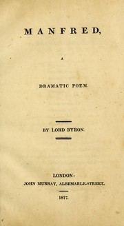Manfred by Lord George Gordon Byron