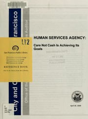 Cover of: Human Services Agency | San Francisco (Calif.). Office of the Controller. City Services Auditor Division.