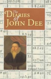 Cover of: The diaries of John Dee