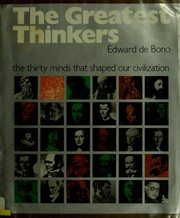 Cover of: The Greatest Thinkers | Edward de Bono