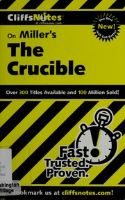 Cover of: CliffsNotes, the crucible | Jennifer L. Scheidt