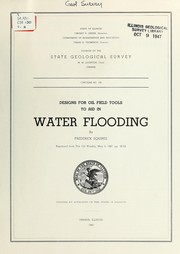 Cover of: Designs for oil field tools to aid in water flooding