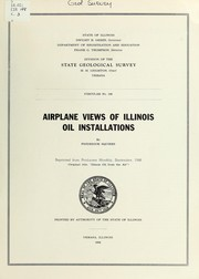 Cover of: Airplane views of Illinois oil installations