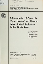 Cover of: Differentiation of Caseyville (Pennsylvanian) and Chester (Mississippian) sediments in the Illinois Basin