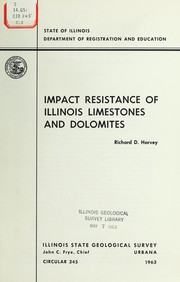 Cover of: Impact resistance of Illinois limestones and dolomites