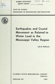 Cover of: Earthquakes and crustal movement as related to water load in the Mississippi Valley region