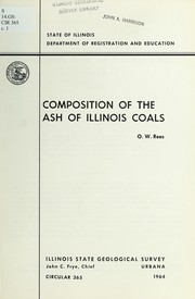 Cover of: Composition of the ash of Illinois coals