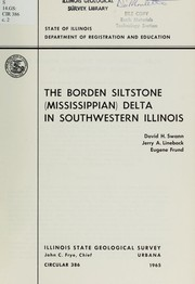 Cover of: The Borden siltstone (Mississippian) delta in southwestern Illinois