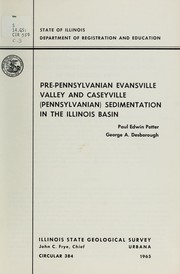 Cover of: Pre-Pennsylvanian Evansville Valley and Caseyville (Pennsylvanian) sedimentation in the Illinois Basin