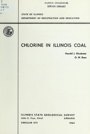 Cover of: Chlorine in Illinois coal