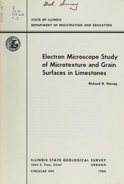 Cover of: Electron microscope study of microtexture and grain surfaces in limestones