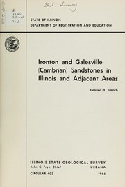 Cover of: Ironton and Galesville (Cambrian) sandstones in Illinois and adjacent areas