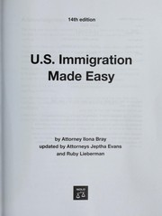 Cover of: U.S. Immigration Made Easy